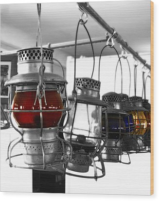 Wood Print featuring the photograph Lanterns by Raymond Earley