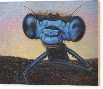 Large Damselfly Wood Print by James W Johnson