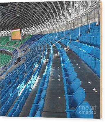 Large Modern Sports Facility Wood Print by Yali Shi