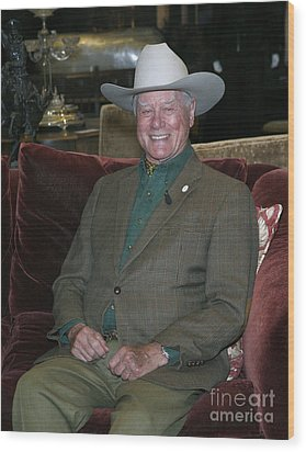 Larry Hagman Wood Print by Nina Prommer