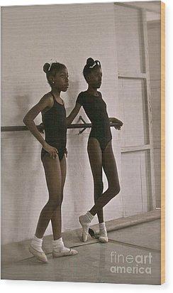 Las Bailarinas Wood Print by Maureen J Haldeman