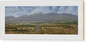 Las Cruces New Mexico Panorama Wood Print by Jack Pumphrey