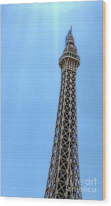 Las Vegas - Paris Wood Print by Gregory Dyer
