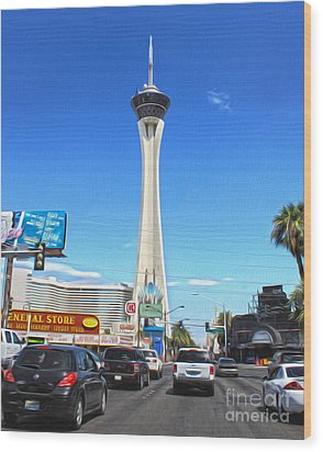 Las Vegas - Stratosphere Wood Print by Gregory Dyer