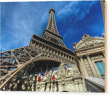 Las Vegas 021 Wood Print by Lance Vaughn