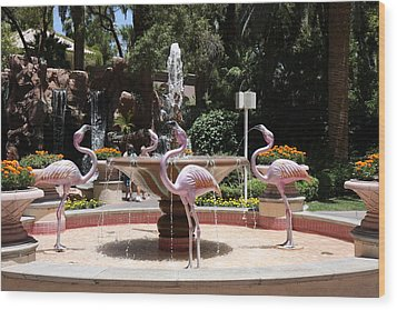 Las Vegas - Flamingo Casino - 12122 Wood Print by DC Photographer