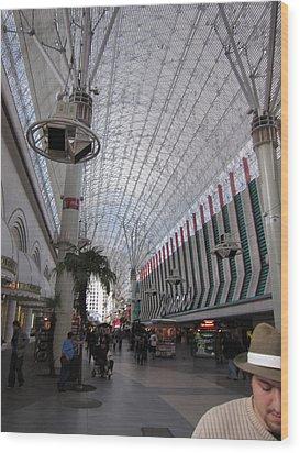Las Vegas - Fremont Street Experience - 12121 Wood Print by DC Photographer