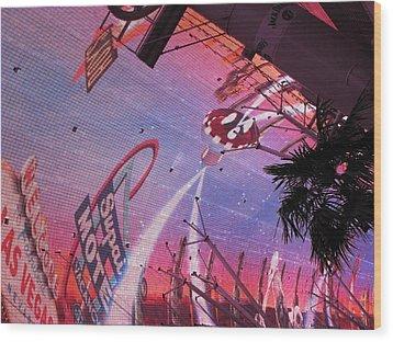 Las Vegas - Fremont Street Experience - 121212 Wood Print by DC Photographer
