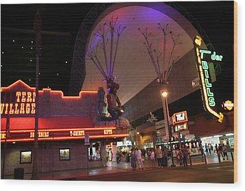 Las Vegas - Fremont Street Experience - 121222 Wood Print by DC Photographer