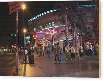 Las Vegas - Fremont Street Experience - 121224 Wood Print by DC Photographer