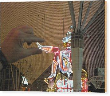 Las Vegas - Fremont Street Experience - 12129 Wood Print by DC Photographer