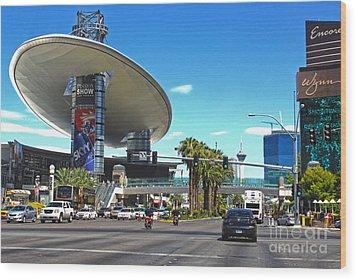 Las Vegas Wood Print by Gregory Dyer