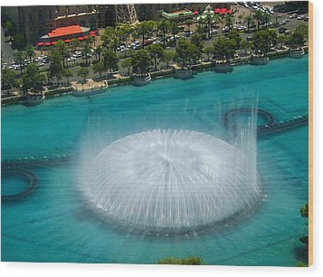 Wood Print featuring the photograph Las Vegas Orb by Angela J Wright
