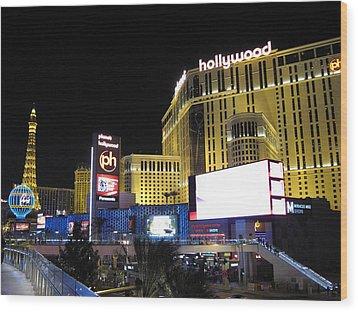 Las Vegas - Planet Hollywood Casino - 12121 Wood Print by DC Photographer