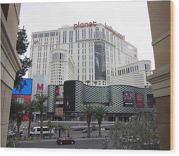 Las Vegas - Planet Hollywood Casino - 12123 Wood Print by DC Photographer