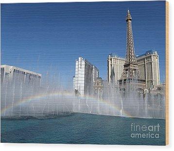 Las Vegas Rainbow Wood Print
