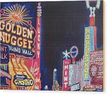 Las Vegas Strip Wood Print by Mitchell McClenney