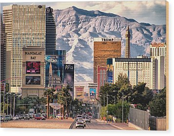 Las Vegas Nevada Wood Print
