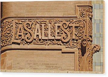Lasalle Street Sign Wood Print by John Babis