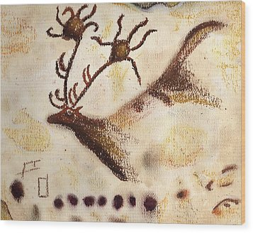 Lascaux Wood Print by Angie Brown