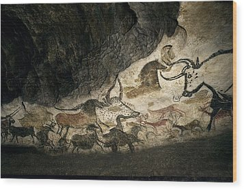 Lascaux II Cave Painting Replica Wood Print