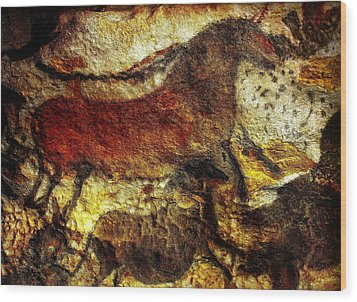 Wood Print featuring the photograph Lascaux II No. 1 - Horizontal by Jacqueline M Lewis
