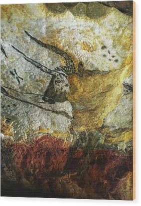 Wood Print featuring the photograph Lascaux II Number 3 - Vertical by Jacqueline M Lewis