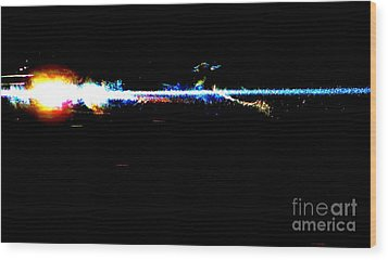 Laser Beam Wood Print by Tim Townsend