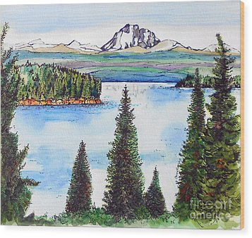 Lassen And Almanor Wood Print by Terry Banderas