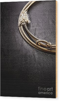 Lasso On Leather Wood Print by Olivier Le Queinec