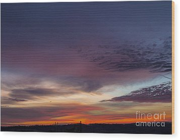 Last 2012 Sunrise Wood Print