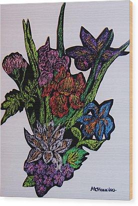Last Bouquet Wood Print