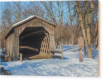 Last Covered Bridge Wood Print