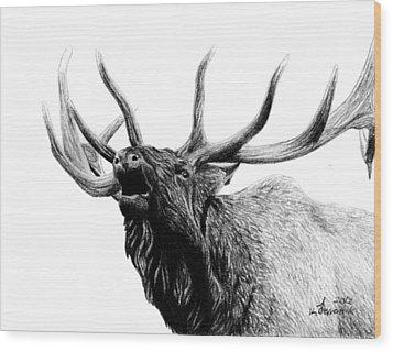 Last Cry Wood Print by Kayleigh Semeniuk