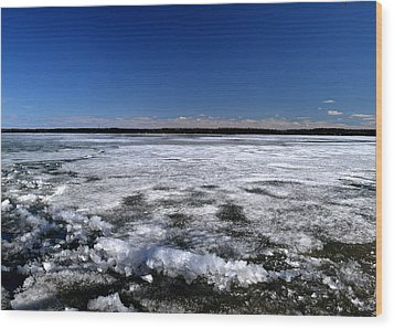 Last Day Of Ice On The Lake 3 Wood Print by Lyle Crump
