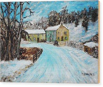 Last Days Of Winter Wood Print by Mauro Beniamino Muggianu
