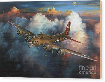 Last Flight For Nine-o-nine Wood Print by Randy Green