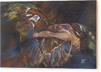 Last Flight Wood Print by Karina Llergo