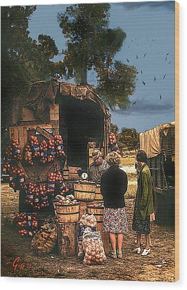 Last Fruit Wagon Of The Season Wood Print by J Griff Griffin