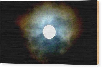 Last Full Cold Moon December 2012 Wood Print by Susan Garren