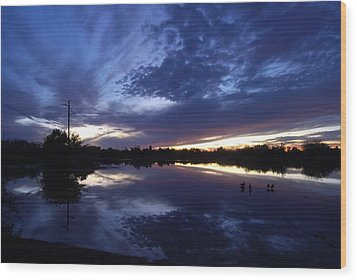 Wood Print featuring the photograph Last Light by Tam Ryan