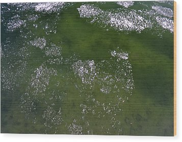 Last Of The Ice Floating  Wood Print by Lyle Crump