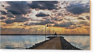 Wood Print featuring the photograph Last Rays by Greg Jackson