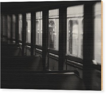 Last Stop Wood Print by Amy Weiss