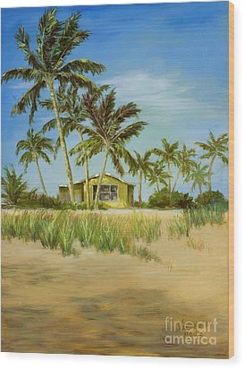 Wood Print featuring the painting Last Sugar Shack by Vic  Mastis