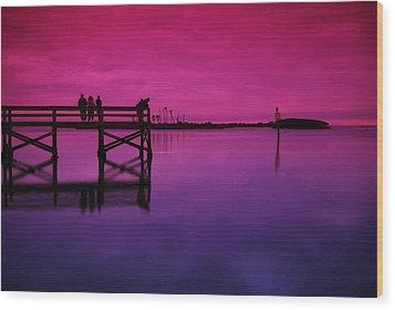 Last Sunset Wood Print by Beverly Stapleton