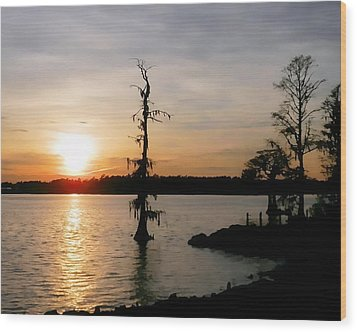 Wood Print featuring the photograph Last Sunset Of 2012 by Victor Montgomery
