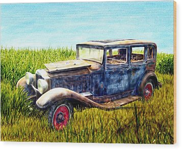 Last Tour For An Old Ford Touring Car Wood Print