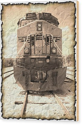 Last Train Wood Print by Wendy J St Christopher
