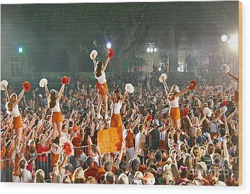 Last University Of Texas Hex Rally Wood Print